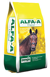 ALFA-A ORIGINAL is the highly digestible fibre feed for working horses.