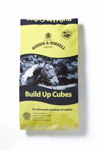 Build-Up Cubes are high in fibre and oil and have been specifically formulated for horses and ponies that need to gain top line and condition.