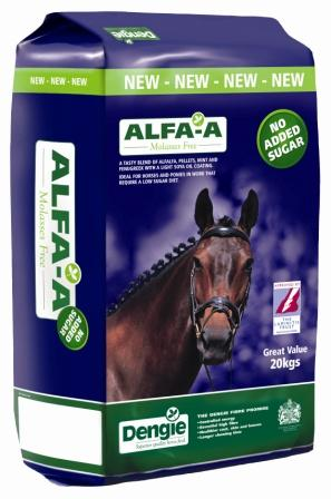 A complete fibre feed based on alfalfa which is naturally low in sugar and starch.