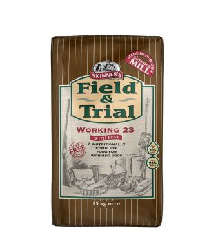 Field & Trial Working 23 with beef combines meat and a blend of 3 cereals together with the oils