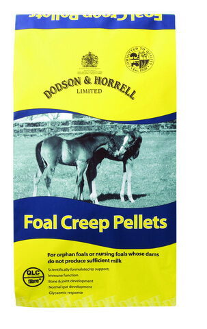 Scientifically formulated for orphan foals or nursing foals whose dams do not produce sufficient milk.