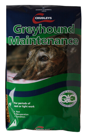 During periods of rest it is still vital to provide your greyhound with correct nutrition.