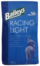 Racing Light is a low energy coarse mix formulated for racehorses of all ages at rest