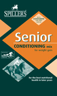 SPILLERS Senior Conditioning Mix is a highly effective conditioner which exactly meets the nutritional needs of the senior horse requiring extra calories to help build and maintain condition and topline.