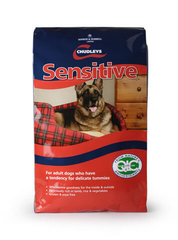 Chudleys Sensitive has an improved formula which is rich in lamb