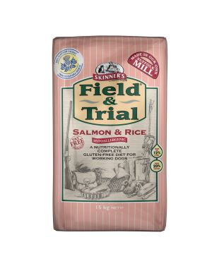 Field & Trial Salmon & Rice is completely hypoallergenic and was developed following the success of our Field & Trial Duck & Rice food.