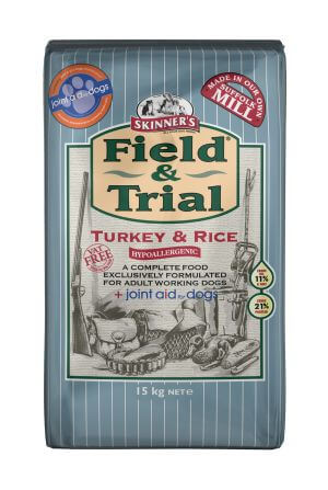 Field & Trial Turkey & Rice is a hypoallergenic food and has been exclusively formulated to include joint aid for dogs at a daily maintenance level.