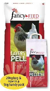 Essential nutrients to promote good health and well-being in the bird as well as supporting egg production.