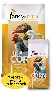 Mixed Corn is an appetising blend of English wheat and cut maize which can be fed to all kinds of poultry